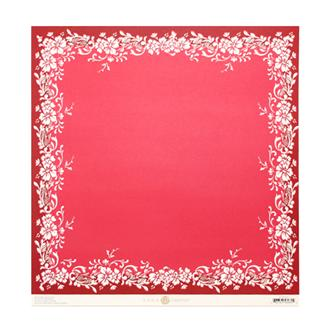 "12""JULIET BORDER RED"